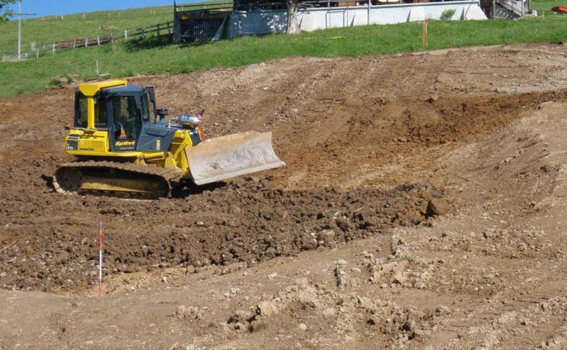 Aushubdeponie zum Neubau Mineralbad Rigi-Kaltbad